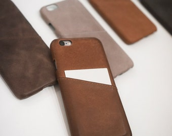 iPhone 6 / 6s Leather Case Card Holder Wallet Slim