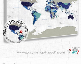 Colorful world map bright world map with us states cities detailed political map world map map with country borders capital cities suit travel push gumiabroncs Choice Image
