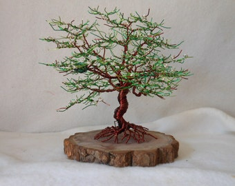 Wire Tree Sculpture,Wire Tree,Metal Trees,Wire Tree Art,Metal Art,Bonsai Tree, Nature Accent,Tree Art,Copper,Home Decor,Flower,Dogwood