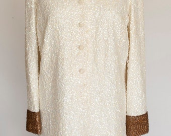 Vintage Imperial Imports Sequined and Beaded Dress