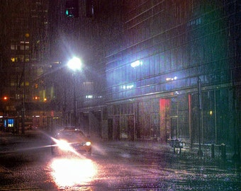 Manhattan Print, NYC Picture, New York Picture, Rain Picture, New York Print, NYC Skyline Photo, Rain Print, NYC Photo, New York City