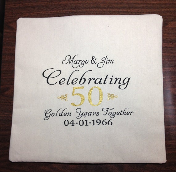 Personalized year anniversary gift embroidery pillow