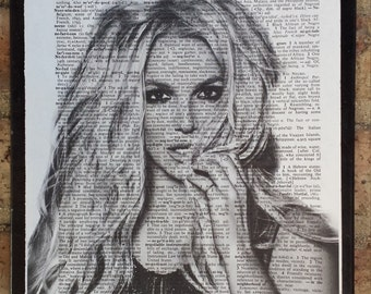 Britney Spears Glory Dictionary Print