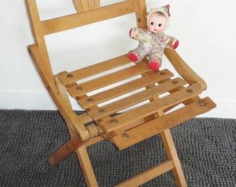 Chair folding child vintage 50s