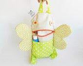 Butterfly toddler backpack | Zippered green bag | Zacola: Kid zippered bag butterfly wings | toddler girl bag | kids pre school clothes bag