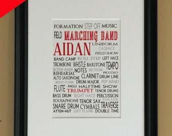 Personalized Print- Marching Band