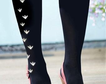 Bird Tights - Bird Footprint