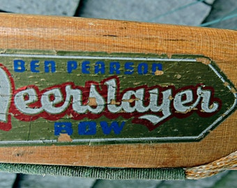 """Ben Pearson Recurve Bow """"Deerslayer"""" all Laminated Wood Vintage Rustic Camp Cottage Decor"""