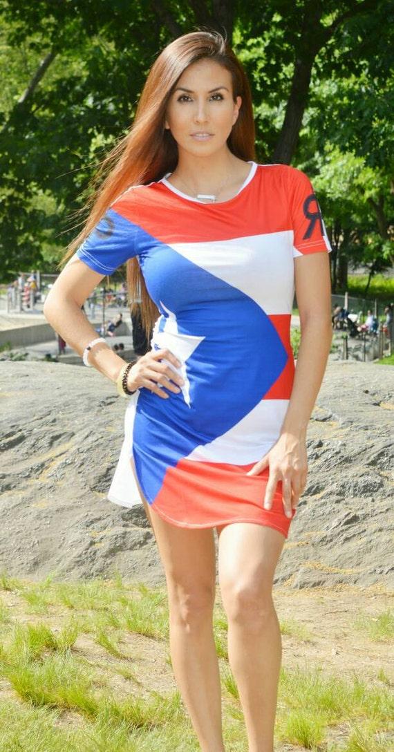 Puerto Rico Flag Shirt Dress