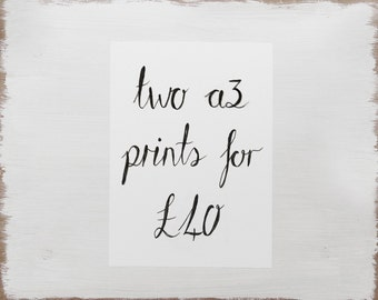 Any Two A3 Prints Offer