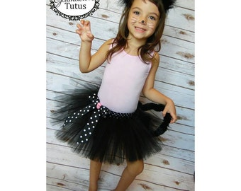 Black cat tutu set| Kitty tutu costume | Newborn- Adult XXXL Listing