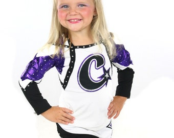 Bulk Price, Purple Cheer Bow, Cheerleader Spirit Bows, Purple White Silver Glitter Ribbon Cheerbow, Softball Bow, Volleyball Bows, Team Bows