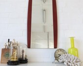 Vintage Danish Teak Wall Mirror or Mid Century Modernist Mirror