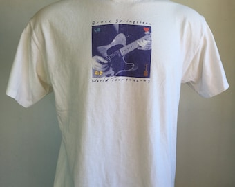 BRUCE SPRINGSTEEN Shirt 1992 Vintage/ The BOSS World Tour 90s Tshirt/ New Jersey Born In The UsA X-Large