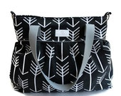 Black Arrow Diaper Bag  - Stroller Bag - Bags and Purses - Baby Bag