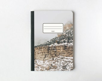 Winter Hill Notebook - Journal - Sketchbook - Blank pages - Lined pages