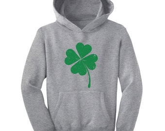 Faded Shamrock - St. Patrick's Day - Youth Hoodie