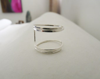 Sterling Silver Ring//Square Ring//Modern Ring//Women Rings//Handmade Jewelry