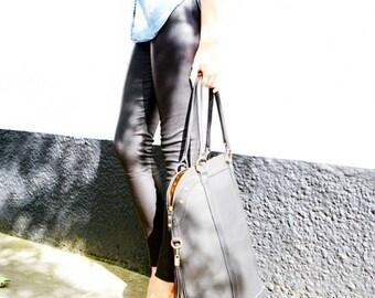 Black Large Weekend Tote Bag