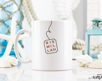 Bismillah Coffee Mug, muslim mug, coffee mug