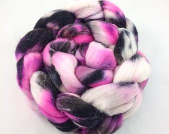 Merino Roving, Pink Merino Roving, Spinning Fiber, Wool Roving, Merino Wool Roving, Merino Wool, 100% Merino, Black Merino Roving