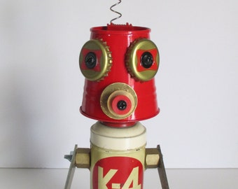 CIRCLE K- Found object robot sculpture~assemblage