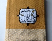 Kitchen Towel Hanging Topper - You're The Bee's Knees - Hanging Towel - Handmade Crochet - Ready to Ship