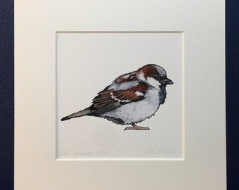 Sparrow Print - Mounted