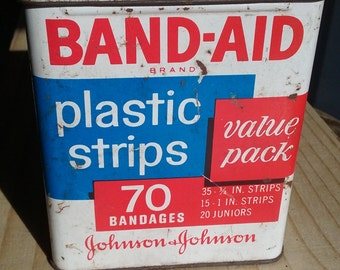 Band Aid Box Collectible Tin Johnson and Johnson Vintage Metal Box Empty Fallout Cosplay