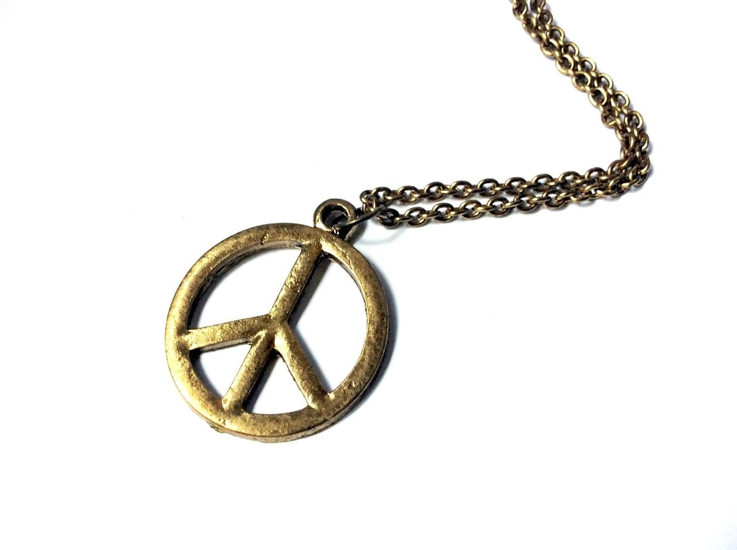Peace Sign Necklace: large peace sign pendant