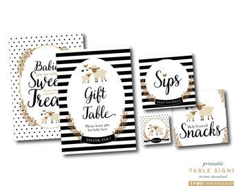 Lamb Shower Signs, Lamb Baby Shower, Babies Are Sweet Sign, Black and White Shower, Lamb Favor Tag, Gift Table Sign, INSTANT DOWNLOAD, #2403