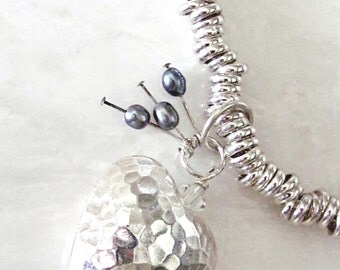 Silver Link Necklace, Link Necklace, Sweetie Style, Nikki Hills Design, Gift For Her, Mom Gift