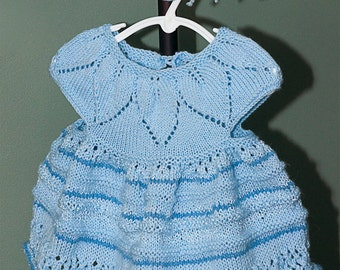 Cotton Knit Dress in Shades of Baby Blue