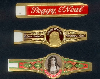 Vintage Peggy O'Neal Cigar Bands - Collage, Mixed Media, Artist Trading Cards, Journals