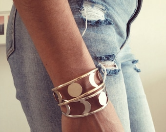 Moon phases bracelet,sterling silver moon bracelet,silver cuff,gold cuff,moon phase cuff,crescent moon cuff,moon cuff bracelet