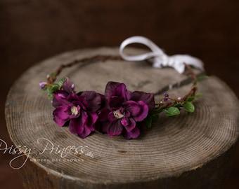 Purple Halo, Boho, Floral Crown, Floral Wreath, Floral Halo, Flower Halo, Flower Wreath, Flower Crown, Photo Prop, Lissette Halo