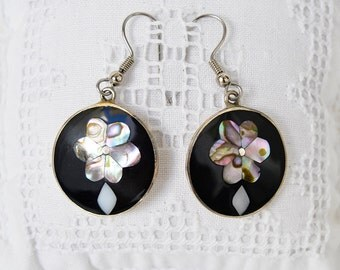 alpaca silver earrings Mexico