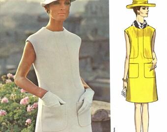 Vintage Vogue Couturier Design / Federico Forquet of Italy / 1960s Dress / Size 12 / Vogue 1867
