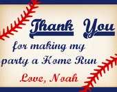 Baseball Thank You Card, Baseball Invitation, Baseball Party, Baseball Birthday, Thank You Card, Baseball Invite, Sports Party PRINTABLE