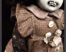 "Legba 9"" Scary Creepy OOAK Altered Porcelain Doll"