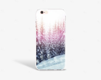 iPhone 7 Plus Case Forest iPhone SE Case Clear Trees Phone Cases iPhone 7 Case Clear Pretty iPhone 6s Case Samsung S7 Case Pine Trees