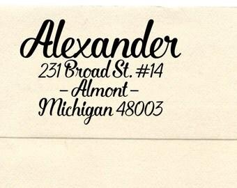 Personalized Return Address Stamp, Custom Address Stamp,  Wedding Gift Rubber Stamp,  Pre-inked Stamp, Almont