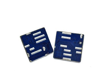 Earring -zedi cube- Printed Circuit Board, PCB Earrings, Motherboard