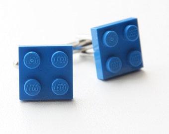 Groom's Cufflinks, Lego Cufflinks, Party Cufflinks, Blue Cufflinks, Groom's Gift, Wedding Jewelry, Men's Jewelry, Groom Accessories