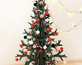 Super-tall reboard laser-cut christmas tree, modern Holiday decoration, home decor, 2m / 6,56 ft