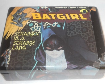 Batgirl Comics Recycled Wooden Jewelry Box
