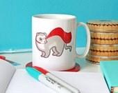 Ferret Mug, Ferret Cup, Ferret Gifts, Cute Mugs, Ceramic Mug, Tea cup, Coffee mug, Home and living