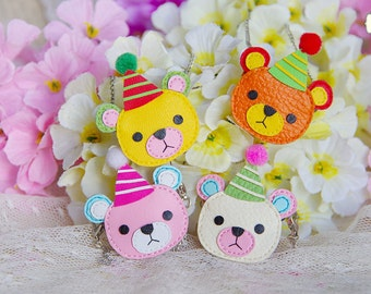 "Lati Yellow/Pukifee - Mini ""Festival Bear"" Leather Bag - 4 Colors"