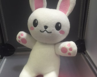 Rabbit Bunny Plush Plushie Toy Usa the White Rabbit