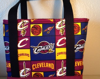 Bag/Purse/Tote Made From Cleveland Cavaliers Fabric